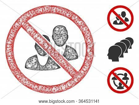 Mesh No People Polygonal Web Icon Vector Illustration. Abstraction Is Created From No People Flat Ic