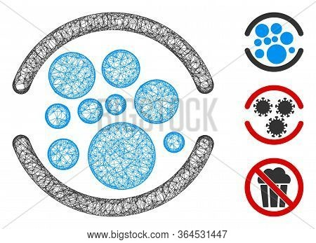 Mesh Full Polygonal Web Symbol Vector Illustration. Model Is Based On Full Flat Icon. Triangle Netwo
