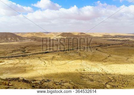Desert Landscape In Sde Boker, The Negev Desert, Southern Israel