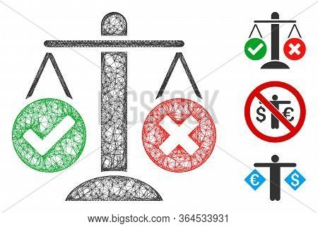 Mesh Truth Decision Polygonal Web 2d Vector Illustration. Model Is Based On Truth Decision Flat Icon