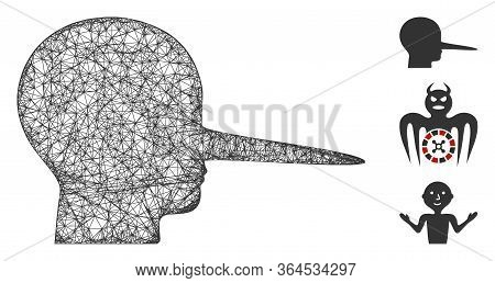 Mesh Liar Polygonal Web Icon Vector Illustration. Abstraction Is Based On Liar Flat Icon. Triangle N
