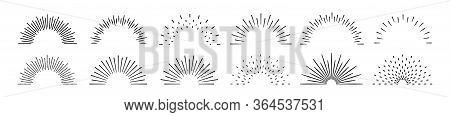 Sunburst Set. Big Collection Sunburst Best Quality. Star, Firework Explosion, Logo, Emblem, Tag. Web