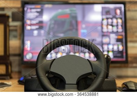 A Place For Entertainment And E-sports. Car Simulator. Computer Games. Driving Accessories For Games