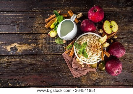 Rice Porridge With Red Apples