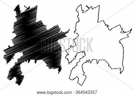 Brasov City (republic Of Romania) Map Vector Illustration, Scribble Sketch City Of Brasov Map