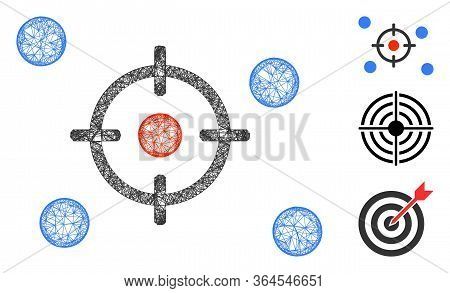 Mesh Selective Polygonal Web Icon Vector Illustration. Model Is Based On Selective Flat Icon. Triang