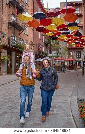 Quebec, Canada September 23, 2018: Rue Du Petit-champlain At Lower Town Basse-ville . This Historic