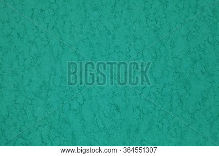 Metallic Wall Background, Texture, Colored In Green (turquoise) Color With Old Age Spots. Chrysopras