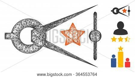 Mesh Quality Inspection Polygonal Web Symbol Vector Illustration. Carcass Model Is Based On Quality
