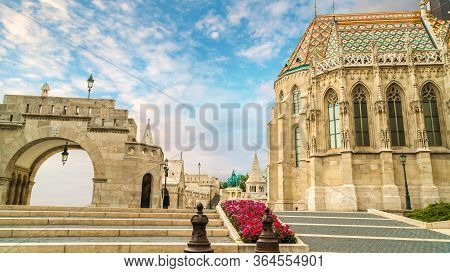 Clouds Over Fisherman Bastion In Budapest, Hungary