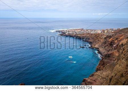 Ponta Do Sol Village Aerial View, Santo Antao Island, Cape Verde, Africa