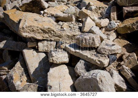 Demolished Concrete Building