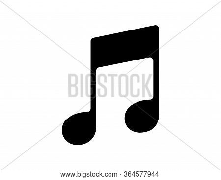 Musical Notation In Black. Illustration Of Music Symbol. Classic Melody Sign In Flat Design. Chords