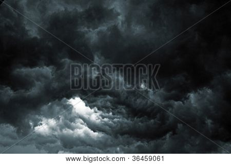 Beautiful storm sky with clouds, apocalypse like