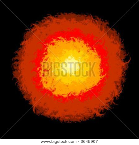 Abstract Fire Lava