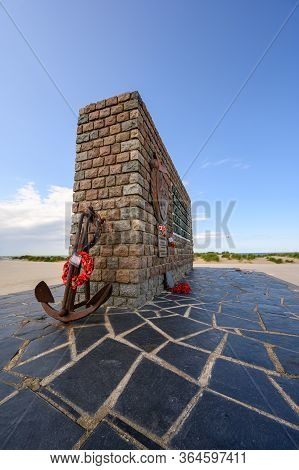 Dunkirk, France - August 13, 2019: Tall Shot Of The Operation Dynamo Memorial To Allied Forces In Du