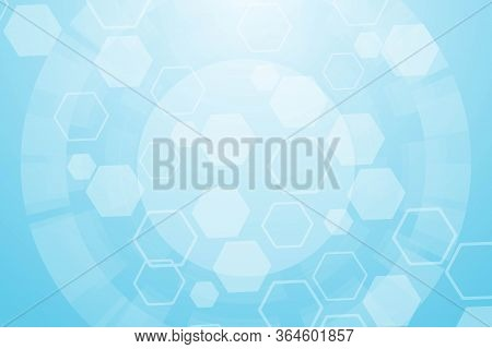 Hexagonal Abstract Background. Big Data Visualization. Global Network Connection. Medical, Technolog