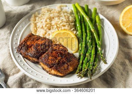 Homemade Blackened Mahimahi White Fish