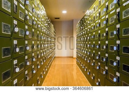 Row of Locker in Changing Room