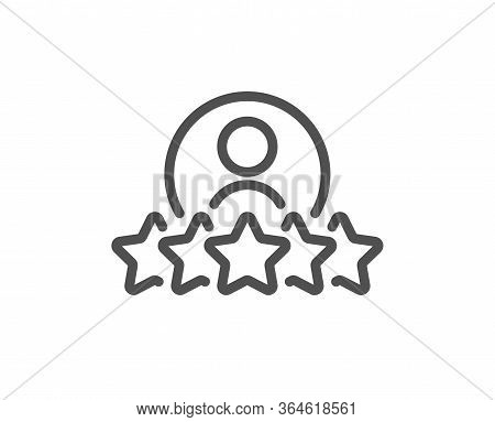 Business Rank Line Icon. Employee Nomination Sign. Human Rating Symbol. Quality Design Element. Edit