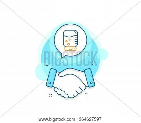 Still Aqua Drink Sign. Handshake Deal Complex Icon. Water Cooler Bottle Line Icon. Liquid Symbol. Ag