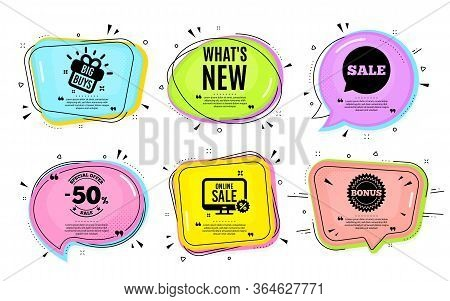 Whats New Symbol. Big Buys, Online Shopping. Special Offer Sign. New Arrivals Symbol. Quotation Bubb