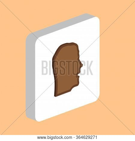 Human Head, Avatar Simple Vector Icon. Illustration Symbol Design Template For Web Mobile Ui Element