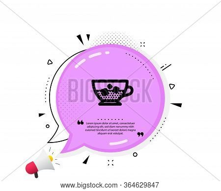 Coffee With Ice Icon. Quote Speech Bubble. Cold Drink Sign. Beverage Symbol. Quotation Marks. Classi