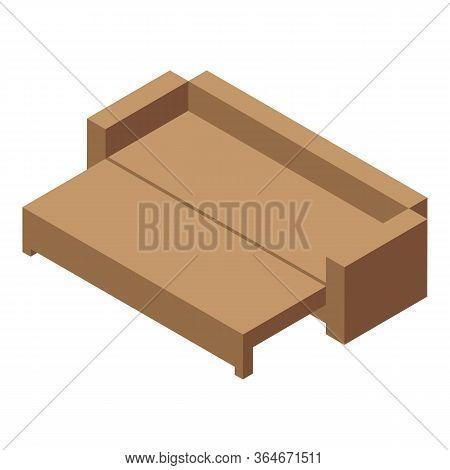 Folding Sofa Icon. Isometric Of Folding Sofa Vector Icon For Web Design Isolated On White Background