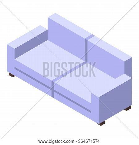Folding Soft Sofa Icon. Isometric Of Folding Soft Sofa Vector Icon For Web Design Isolated On White