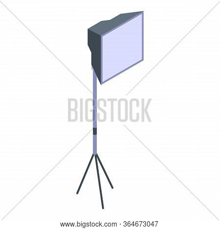 Professional Lightbox Icon. Isometric Of Professional Lightbox Vector Icon For Web Design Isolated O