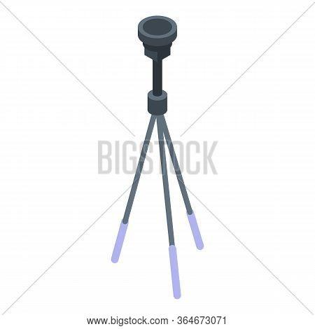 Cameraman Tripod Icon. Isometric Of Cameraman Tripod Vector Icon For Web Design Isolated On White Ba