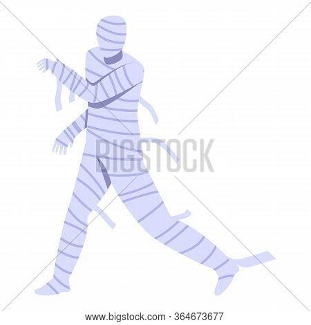 Running Mummy Icon. Isometric Of Running Mummy Vector Icon For Web Design Isolated On White Backgrou