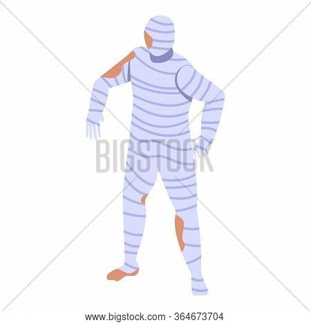 Human Mummy Icon. Isometric Of Human Mummy Vector Icon For Web Design Isolated On White Background