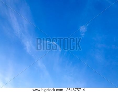 Beautiful Blue Sky With Clouds Nature Background