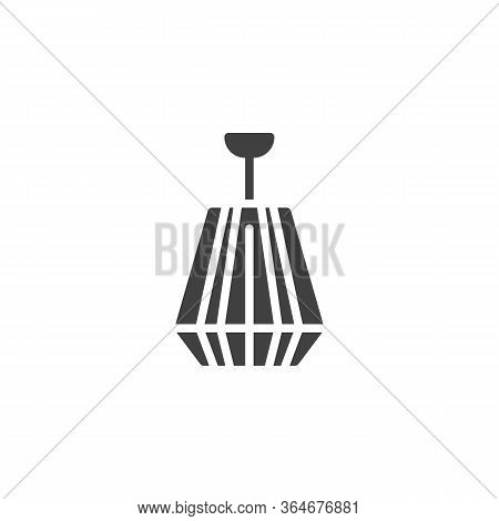 Chandelier Vector Icon. Filled Flat Sign For Mobile Concept And Web Design. Ceiling Chandelier Glyph