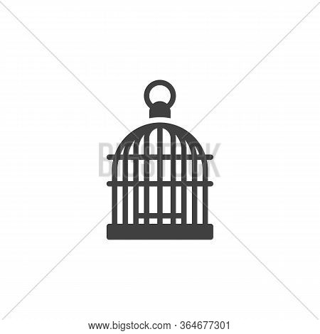 Bird Cage Vector Icon. Filled Flat Sign For Mobile Concept And Web Design. Birdcage Glyph Icon. Symb