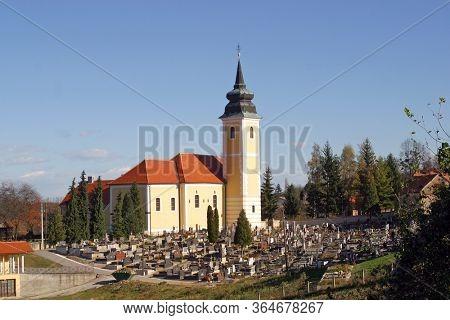 MARIJA GORICA, CROATIA - OCTOBER 02, 2012: Church of the Visitation of the Virgin Mary in Marija Gorica, Croatia