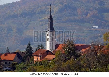 KLANJEC, CROATIA - OCTOBER 02, 2012: Church of the Annunciation of the Virgin Mary in Klanjec, Croatia