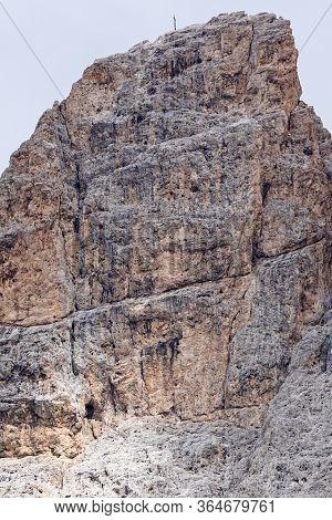 Furchetta Peak In The Dolomites: Majestic Peak In Puez Odles Naturepark / Gardena Valley / South Tyr