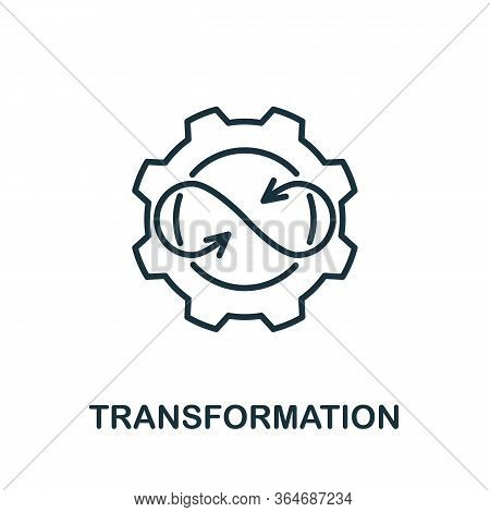 Transformation Icon From Production Management Collection. Simple Line Transformation Icon For Templ