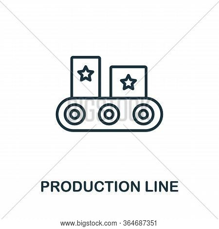 Production Line Icon From Production Management Collection. Simple Line Production Line Icon For Tem