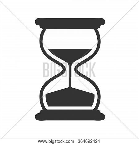 Hourglass Icon Isolated On White Background. Hourglass Icon Simple Sign.