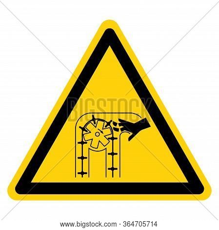 Warning Moving Parts Can Crush And Cut Symbol Sign ,vector Illustration, Isolate On White Background