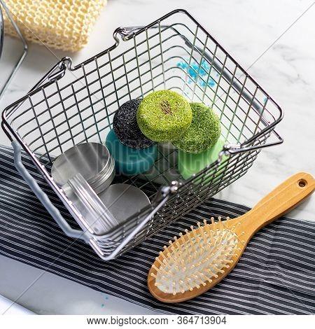 Background Wash Bathroom Solid Soap Shampoo Balm Solid Soap Shampoo, Eco-friendly And Plastic-free P