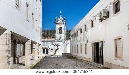 Sesimbra, Portugal - February 19, 2020: Architecture Detail Of The Conservation Of Civil Registers (