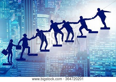 Concept of mentoship and support in business
