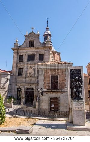 Main Facade Of The Castrense Cathedral Church Next To It Monument To The Victims Of The Attack On Ki