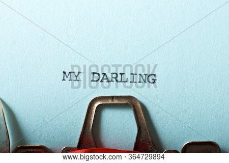 My darling text written on a paper.