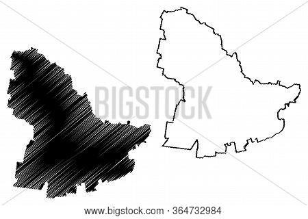 Oradea City (republic Of Romania, Bihor County) Map Vector Illustration, Scribble Sketch City Of Ora